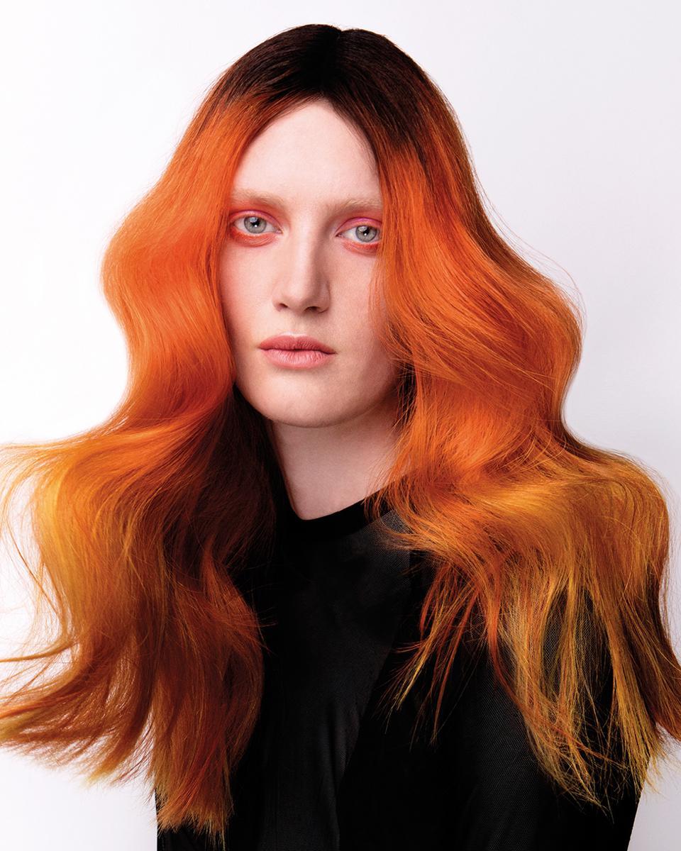 Włosy: Anthony Grant @ Jamie Stevens Hair dla Matrix, Zdjęcia: Jakub Koziel, Makijaż: Marta Mucha, Stylizacja: James Millagan, Produkty: Matrix