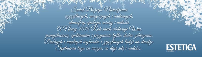 Estetica Polska baner świąteczny
