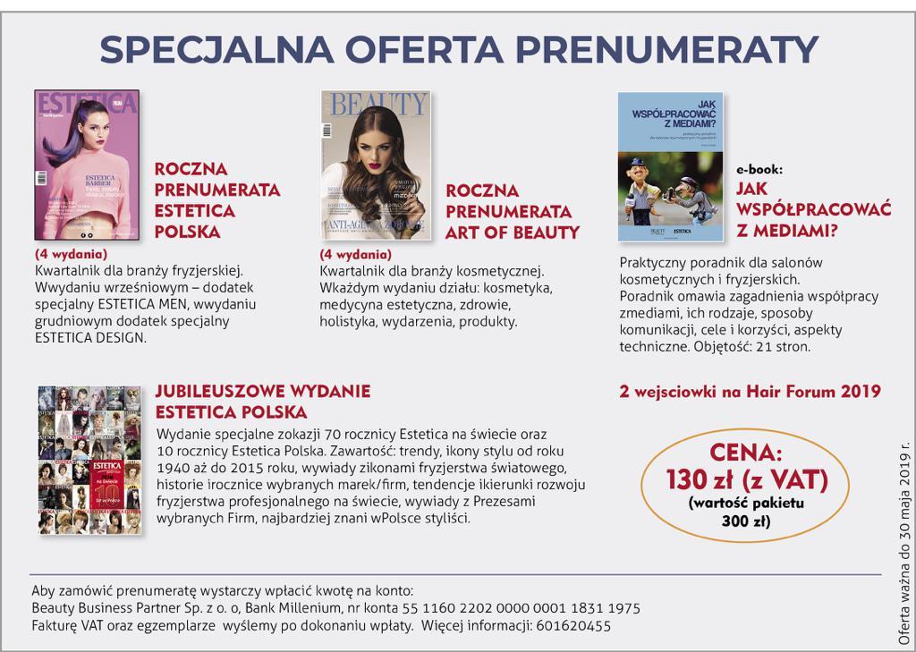 Prenumerata Estetica Polska 2019