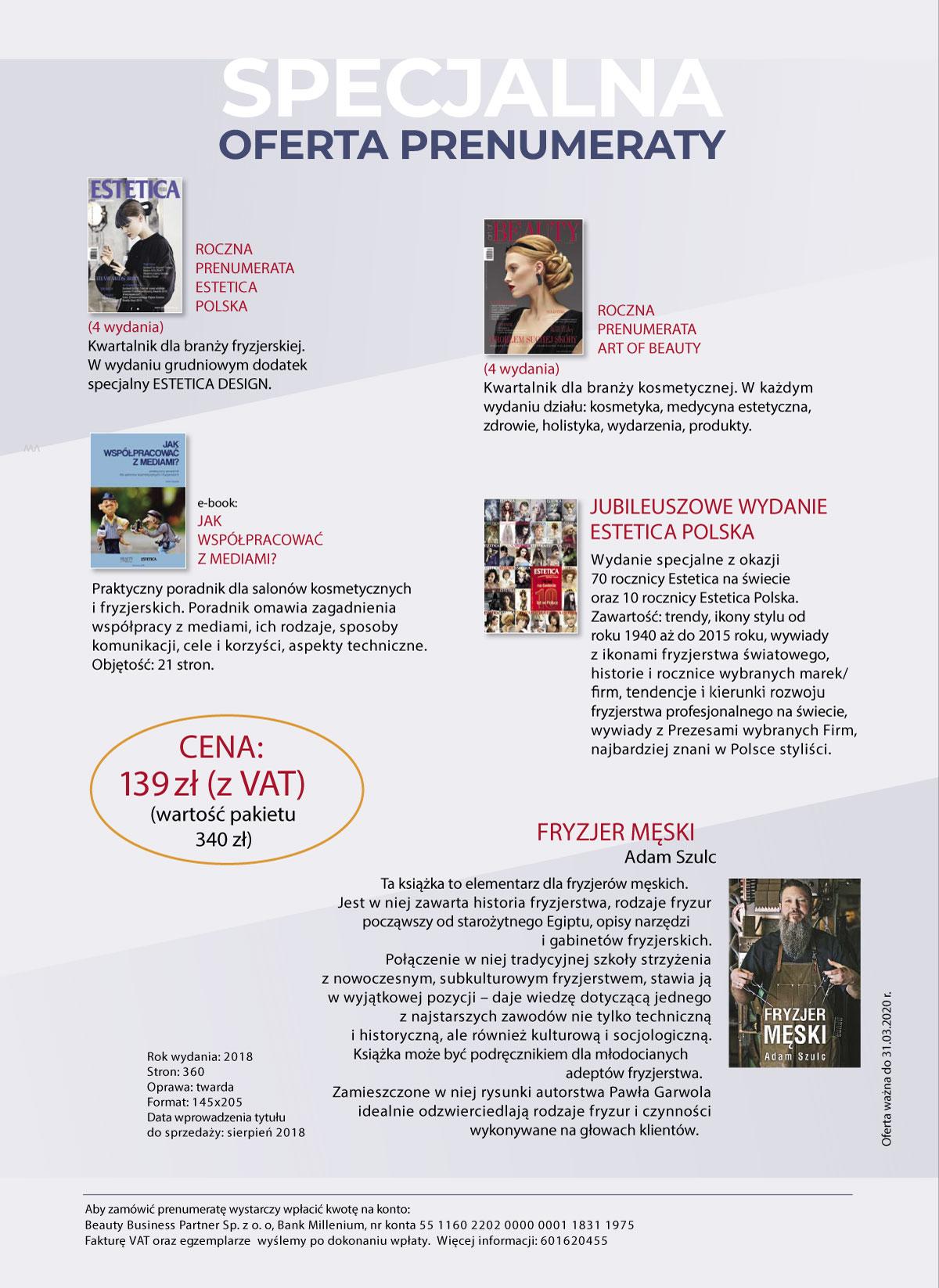Estetica Polska Specjalna oferta prenumeraty